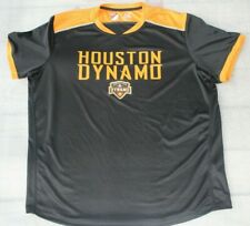 Adidas Men's MLS Houston Dynamo Black/Orange Lightweight Shirt Size 2XL