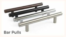 5, 10 - 25 Pack Solid Bar Pull Kitchen Cabinet Door Handles - Multiple Finishes