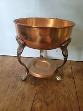 """Vintage Brass Cooper Chafing Dish Food Warmer. 6"""" tall. Nice !"""