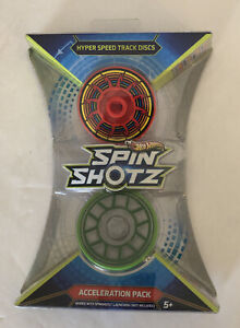 Hot Wheels Spin Shotz Acceleration Pack Hyper Speed Track Discs - NEW SEALED