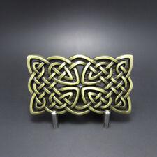 3D Celtic Knot Bronze belt Buckle Irish detailed