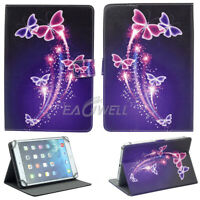 "US For 7.0 7"" 10.1""inch Tablets Universal Leather Case Printing Butterfly Cover"