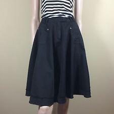 IMPERIAL Damen Rock Gr M 38 Schwarz Weit Schwingend Flare Skirt Trend Top Style