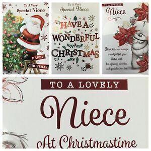 "NIECE CHRISTMAS CARD 7.5""X5.5"" RRP £2 (XMAS4)"