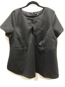 eloquii 22 Black Short Sleeve Blouse