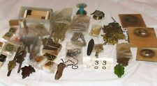 CUCKOO CLOCK CHAINS, PENDULUMS, WEIGHT, AND BELLOWS ASSORTED LOT ALL PICTURED
