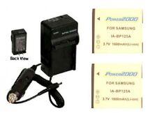2 Batteries + Charger for Samsung HMX-Q200BN HMX-Q200TN HMX-Q200RN HMX-QF20BN