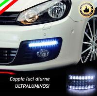 COPPIA LUCI DIURNE DRL 8 LED DAYLIGHT PER AUTO 12V ALTISSIMA LUMINOSITA'