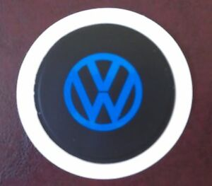 SELF CLING TAX DISC HOLDER FITS any car volkswagen vw golf polo camper bug blue