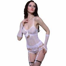 Lingerieset 3 delig maat L/XL (wit) sexy setje ondergoed erotisch jarretels