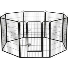 8 Panel Pet Playpen Dog Exercise Pen Fence Metal Exercise Barrier 39''H WOOF