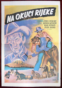 1952 Original Movie Poster Bend of the River Western James Stewart A. Kennedy