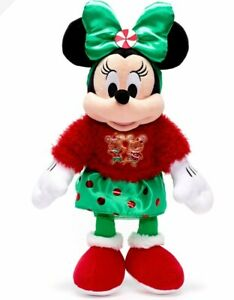 Authentic Disney Minnie Mouse Plush Doll Christmas Toy New