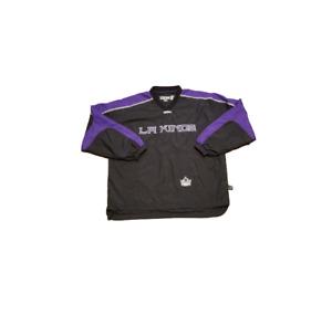 CCM Los Angeles Kings V-Neck Windbreaker Mens Large L Pullover Jacket HOCKEY NHL