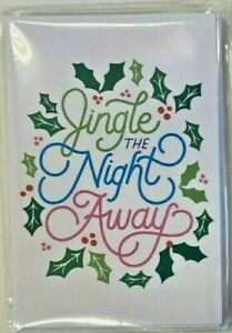 """Christmas Holiday Party Invitation 8 Cards """"Jingle the Night Away"""" Blank Inside"""