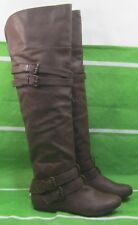 BROWN Round Toe Over  Knee Sexy Boots Side Buckle Us Womens Size  9