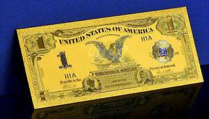 "★★ BILLET POLYMER  "" OR "" DU 1 DOLLAR 1899 USA ● DESTOCKAGE ★★"