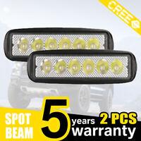 2 x 18W LED LUCE FARO 12V 24V LAMPADA DA LAVORO FARETTO AUTO BARCA CAMION KLW SU
