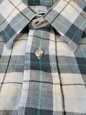 Pringle of Scotland Plaid Shirt 39 15.5 Medium M