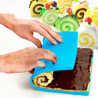 Square Silicone Sushi Mats Pizza Pan Swiss Cake Roll Chocolate Mold Baking