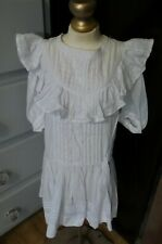 Classic! Antique Dress Ruffles Tucking Pleats for Larger Bisque & Baby Dolls