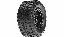 Losi Desert Tire Set Mounted, Black Chrome (4):Micro DT, LOSB1572