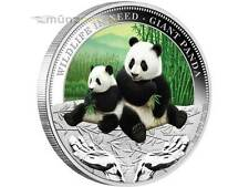 1 $ Wildlife in Need Tuvalu 2011 Giant Panda PP 1 Unze Silber silver proof