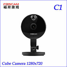 P2P Foscam C1 Mini Wireless IP Camera HD 720P Onvif Wide 115° View Angle