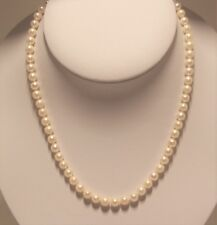 Hand strung Japanese culture pearl necklace, 18 inches long.