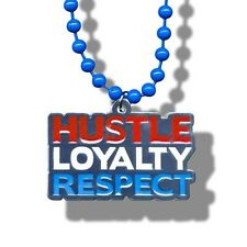 WWE John Cena Hustle Loyalty Respect Beaded Pendant Necklace, Wrestling HLR