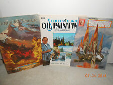 3 How To Paint Seascapes, For Pleasure & The Magic of Oil Painting Book Vintage