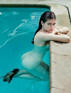 Sexy Alexandra Daddario Naked in the Pool 4x6 photograph
