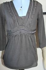 Women's Polyester V Neck Stretch Tops & Shirts