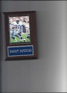 BARRY SANDERS PLAQUE DETROIT LIONS FOOTBALL NFL GAME ACTION