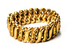 DFB Co Gold Filled Carmen Expandable Stretch Bracelet 15mm Sweetheart