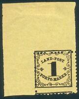 Baden Landportomarke 1x** linkes Eckrandstück, kabinet RARITÄT da verzähnt