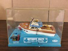 Vintage Ideal Motorific Boaterific Battery Operated Boat Fisherman Barracuda