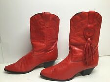 VTG WOMENS LAREDO COWBOY RED BOOTS SIZE 10 M