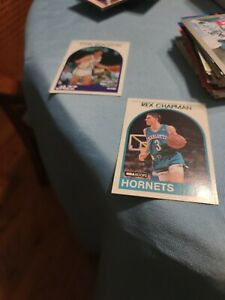 Rex Chapman RC 1989 NBA Hoops #54 and John Stockton #140