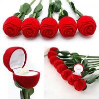 blume hochzeit die rote rose display schmuckkästchen ring / ohrringe / anhänger