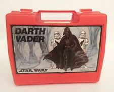 Vintage THERMOS - Roughneck flip-top Box Lunch DARTH VADER STAR WARS - 1982 TBE