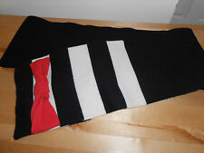 KATE SPADE HUDSON STRIPE BOW WOOL SCARF BLACK CREAM RED GIFT NWT
