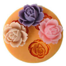 3D Rose Flower Tools Cutter Mold Sugarcraft Fondant Party Cake Baking Mould