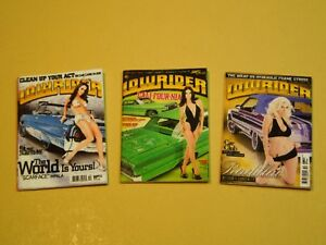 """Dollhouse Miniature 1"""" 1/12 Scale Lowrider Magazines - set of 3 Issues"""