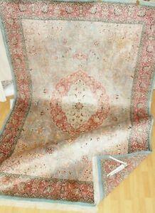 100%EchteTeppich Carpet Rug Handgeknüpfte+XL+KaschmirSeide/ Silk+fast+Neu/+Ware