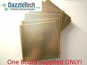 Copper stripboard 100 x 100mm hole prototype vero board gold-plate 1 piece