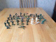 X35 Vintage 1960s Cherilea Ww2 British German American Army Toy Plastic Soldiers