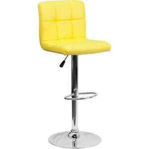 Flash Furniture Yellow Contemporary Barstool, Yellow - DS-810-MOD-YEL-GG