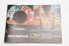 Olympus OM Zuiko Lenses Operating Manual Instruction Book - English - USED B10