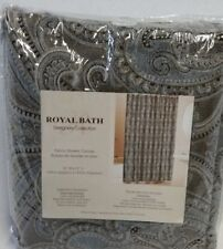 Royal Bath Designers Collection Charcoal Gray Fabric Shower Curtain